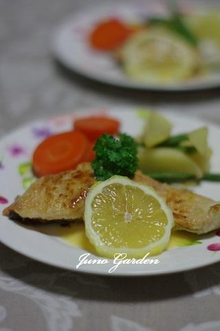 鮭のレモンソース171026
