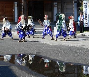 小谷のささら獅子舞 金乗寺 2015年10月12日