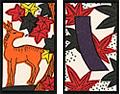 10月-紅葉に鹿