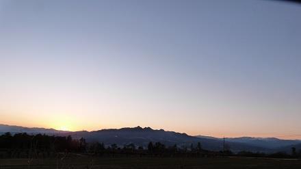 榛名山2012年12月27日 夕日が沈む