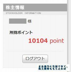 アトム 優待ポイント 残高 201709