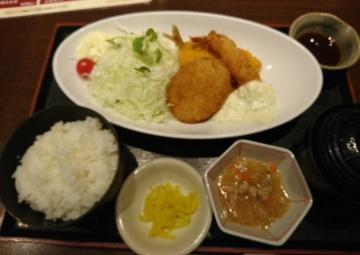 カッパ・クリエイト 北海道 ミックスフライ定食01 201709