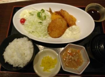 カッパ・クリエイト 北海道 ミックスフライ定食02 201709