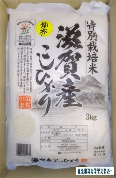 ティア 滋賀産こしひかり 3kg 01 201709