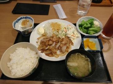 ヴィアHD いちげん 生姜焼き定食01 1710 201703