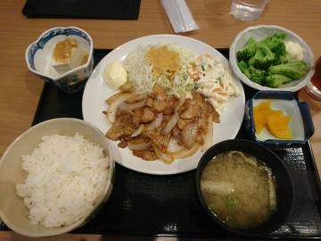ヴィアHD いちげん 生姜焼き定食02 1710 201703