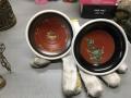 アンティーク吊り照明(通電ok)、七宝茶器、ガラス花入れ、水のみ、香炉他 m4