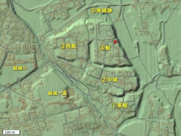 結城城地形図