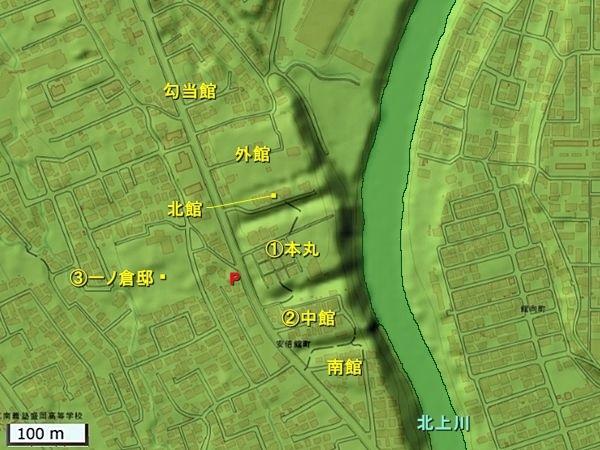安倍館地形図