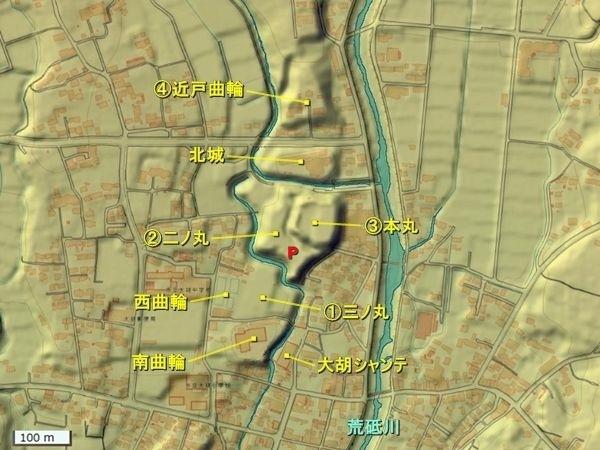 大胡城_地形図