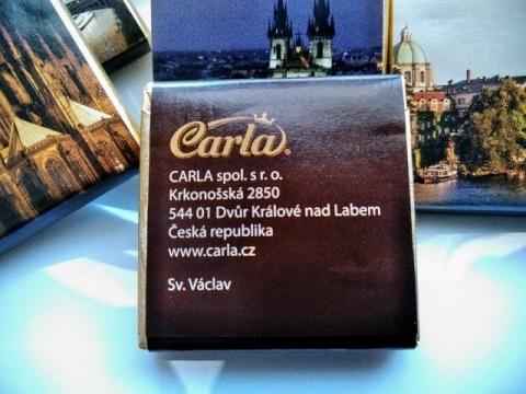 チェコ製カーラ社のプラハ土産70%ダークチョコレート3