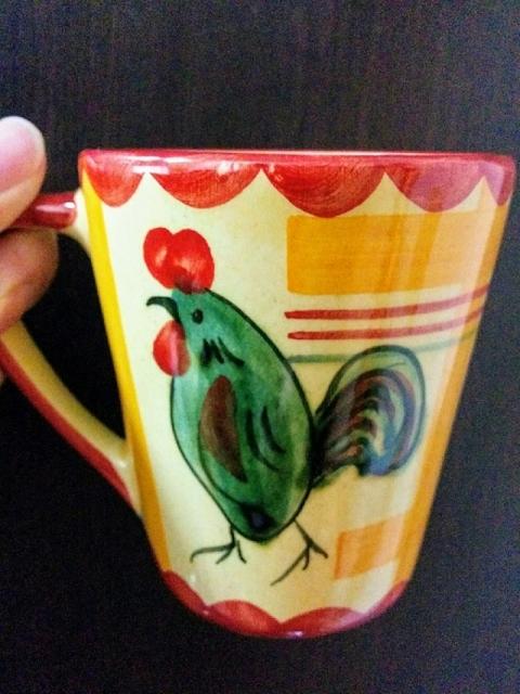 ポルトガル製鶏のマグカップ1