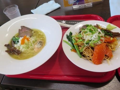 ごちそう喜連川ラーメンと肉と魚のあんかけ麺と