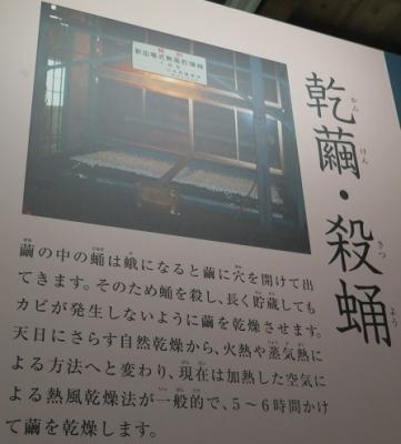 富岡製糸場 乾繭(かんけん)・殺蛹(さつよう)