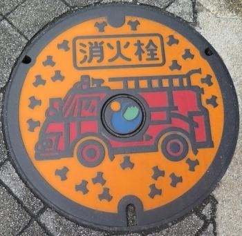 群馬県富岡消火栓マンホール
