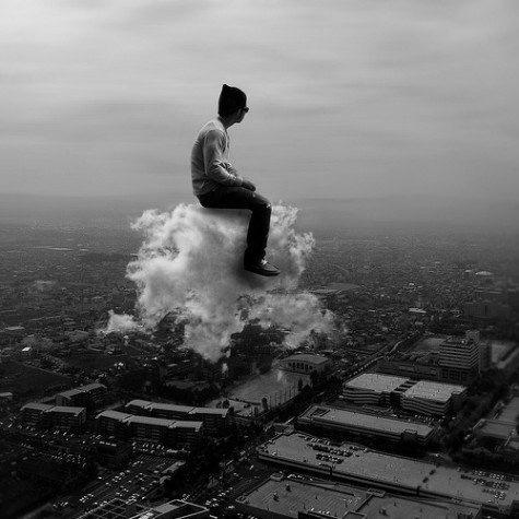 雲に乗る元