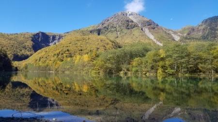 大正池から焼岳1
