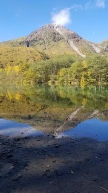 大正池から焼岳3