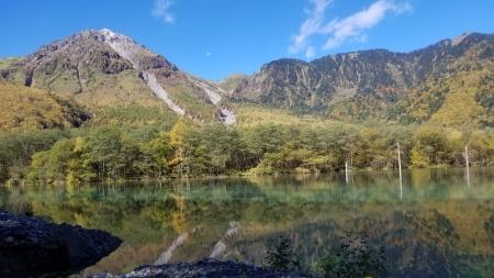 大正池から焼岳2
