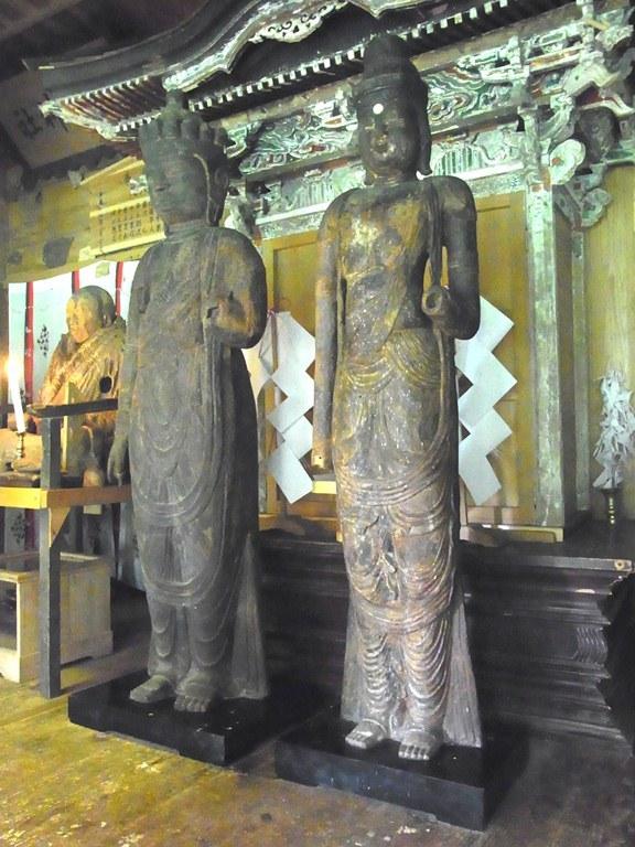 小沼神社・聖観音像、十一面観音像
