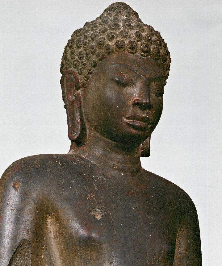 仏陀立像(ドヴァ―ラヴァティ時代・7~8C)