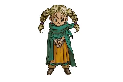 ドラゴンクエスト5のビアンカ(幼少期)描いたから見てよ