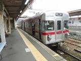 長野電鉄3500形L2編成3652号 信州中野駅にて