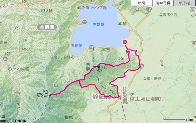 竜ヶ岳MAP