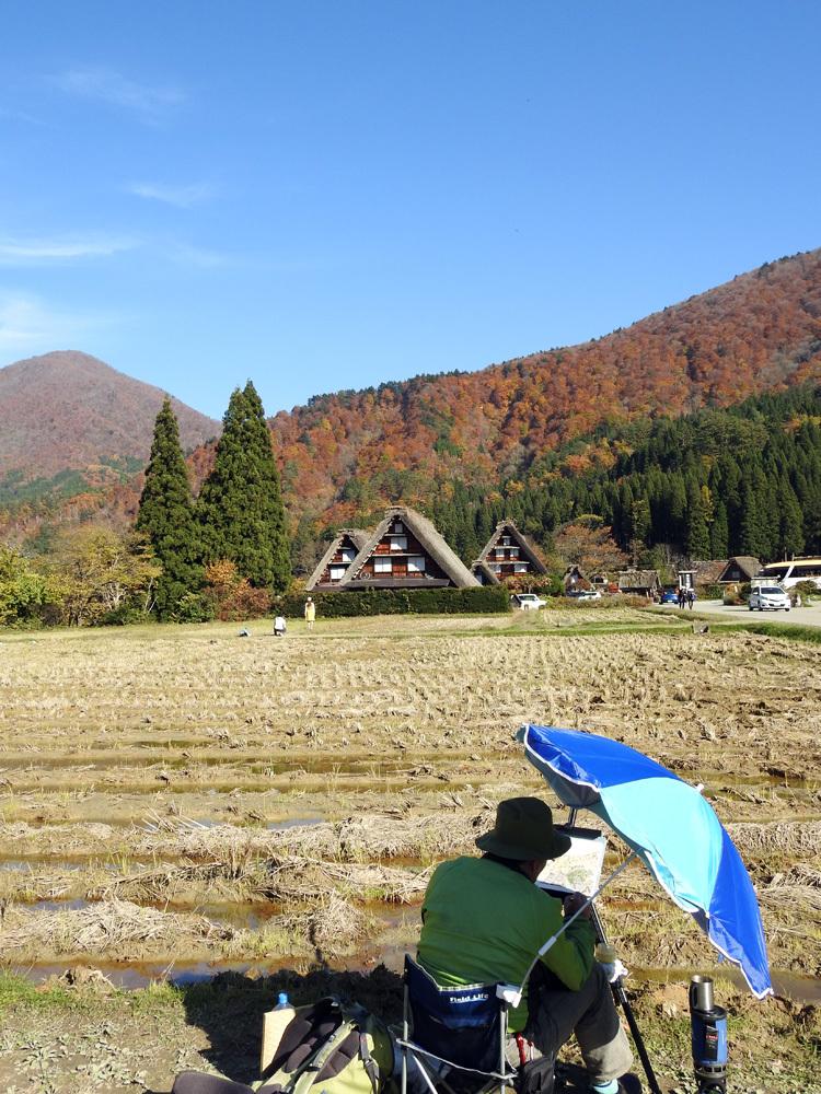 白川郷 紅葉も落葉が少しずつ進み、冬の足音が…3