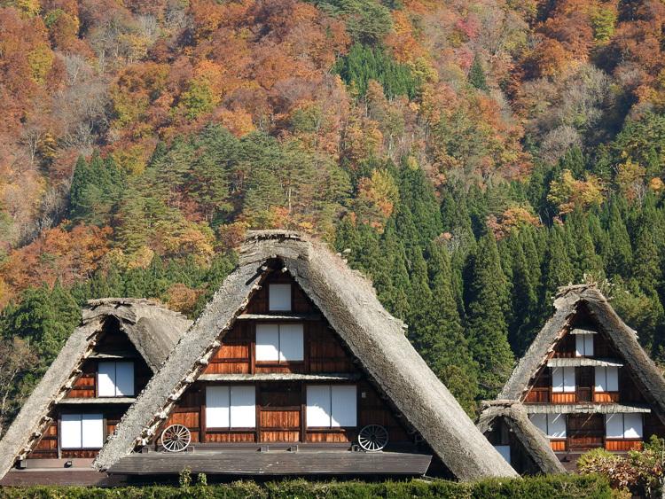 秋から冬へと移り行く白川郷の景色も12