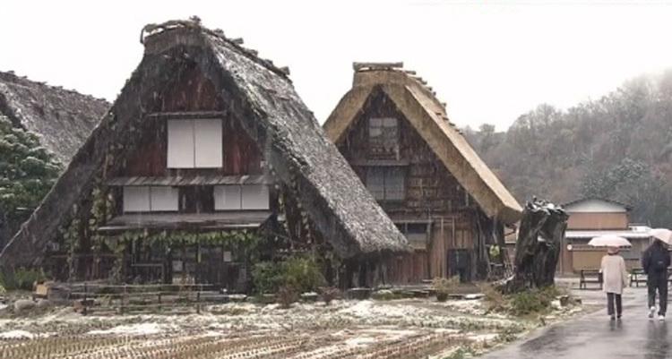 白川郷 本日初雪3