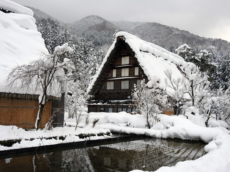 雪景色の綺麗な所に旅行したい白川郷9