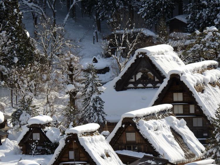 今日は、最近の寒さに比べると暖かい白川郷3