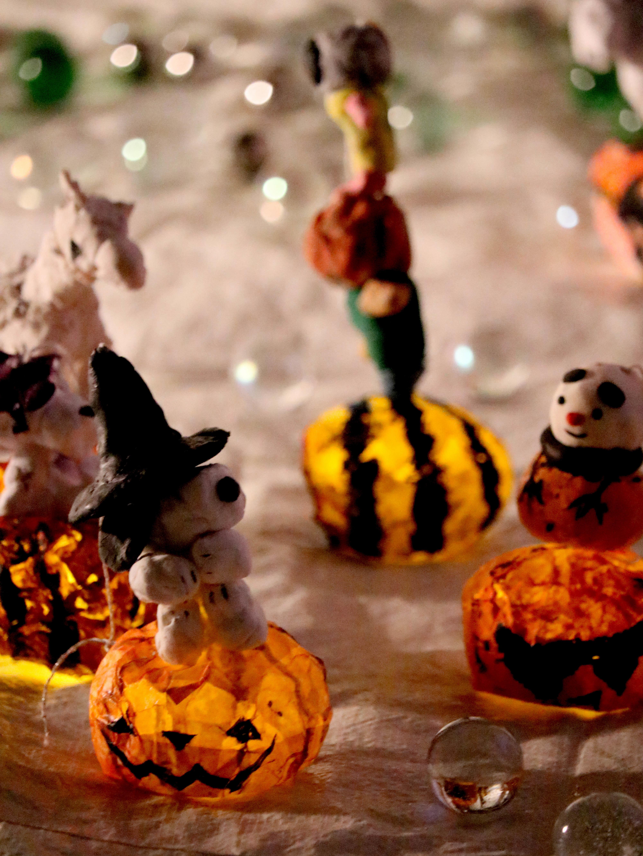 ハロウィンLED光るかぼちゃ デザイン工作