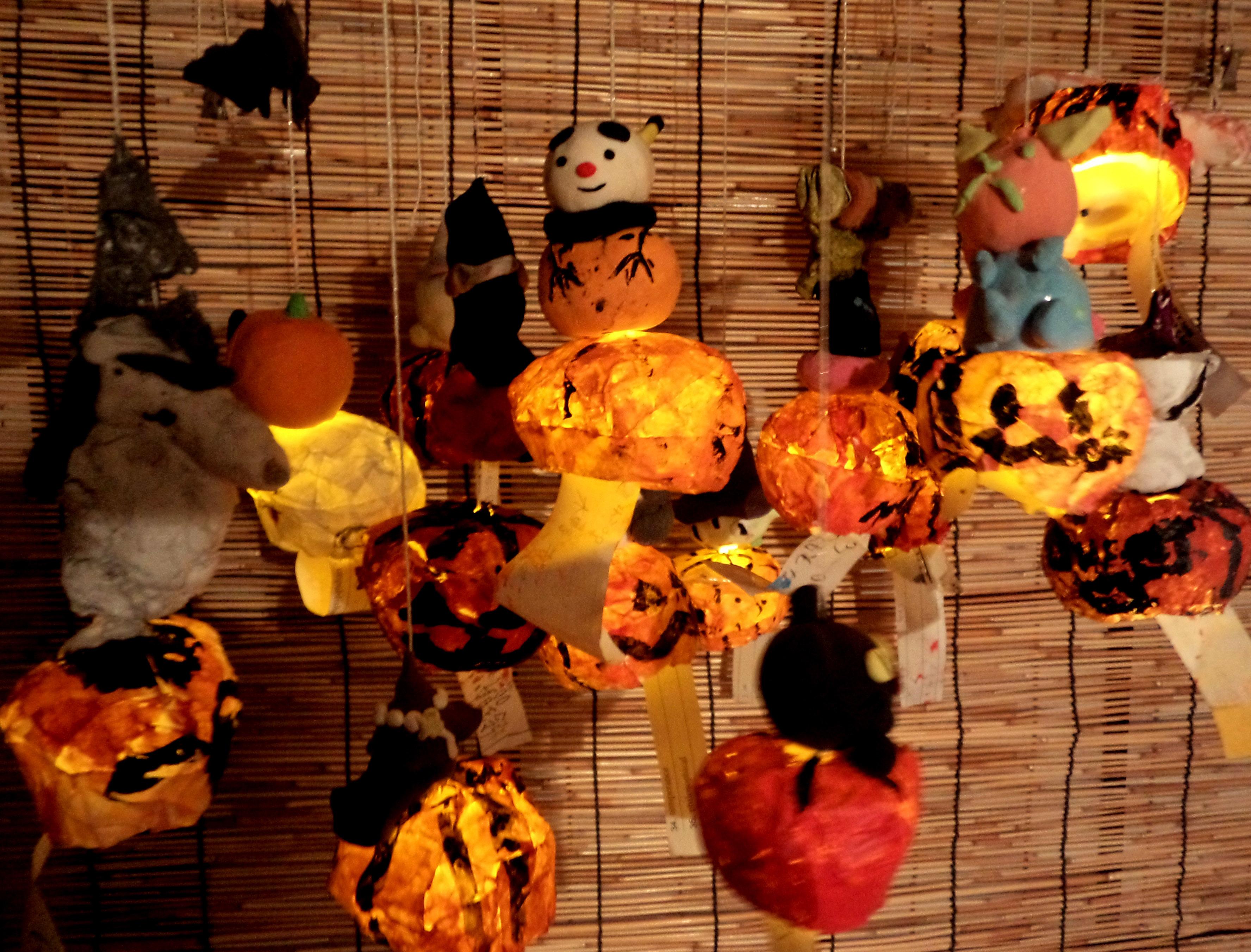 ハロウィンLED光るかぼちゃ