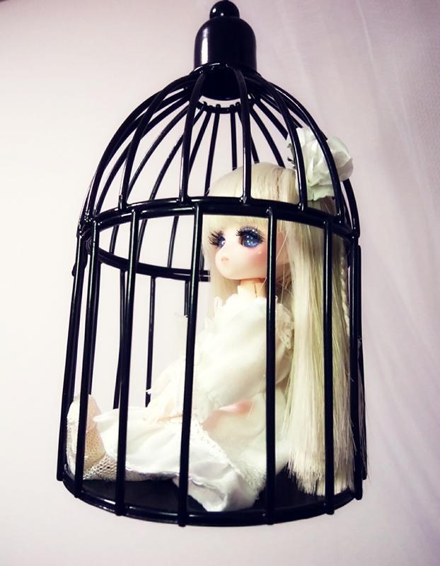 [人形屋☆リッターオルデン] オビツ11 縮小アンジェラSヘッドドール「鳥籠少女」 カスタムドール05
