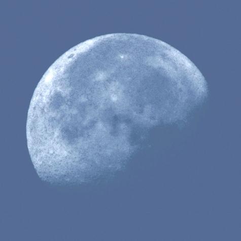 ④2017年10月10日の朝の月 007-2