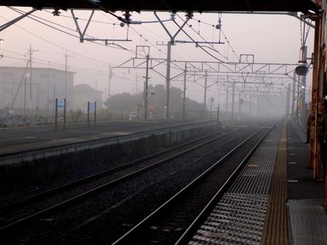 ⑦2017年10月12日の霧と朝日 004-2