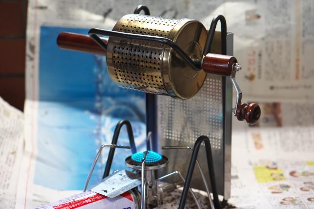 キリマンジェロのピーベリー 手動焙煎機