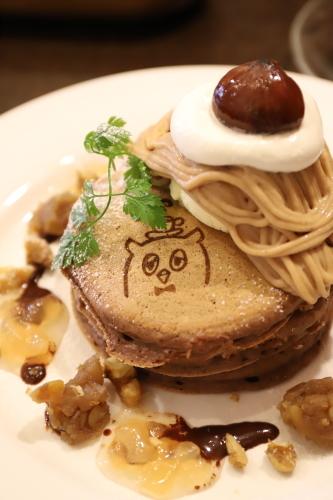 栗パンケーキ