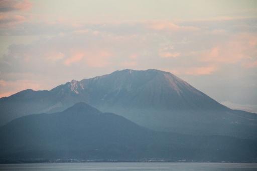 夕暮れの大山