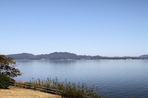 宍道湖南岸から見た朝日山周辺