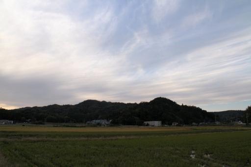 佐太神社背後の山々