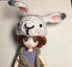 20171227 鬼灯の冷徹 芥子ちゃん あみぐるみ帽子