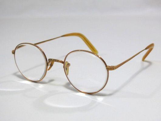 K18刻印 本鼈甲 アンティーク メガネ