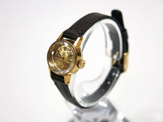 オメガ OMEGA デビル 手巻き 硝子カット レディース 腕時計