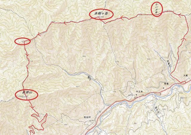 菜畑山地図