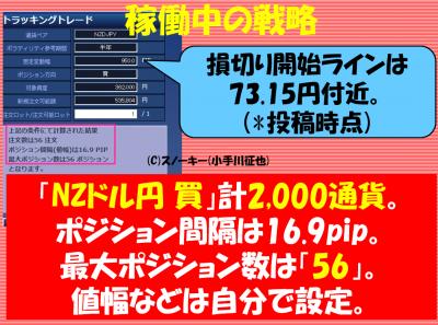 20171002トラッキングトレード検証NZドル円ロング2000通貨
