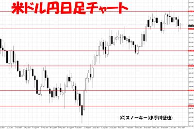 20171111米ドル円日足