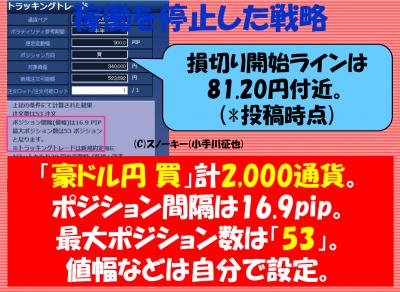 201711118トラッキングトレード検証豪ドル円ロング停止